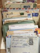 SMALL BOX COVERS AND CARDS, AIRMAILS, NE