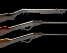 A COLLECTION OF THREE PRE-WAR GERMAN .177 BREAK-BARREL AIR-RIFLES, THE FIRST SIGNED HAENAL, MODEL '