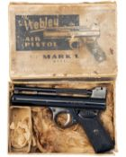 WEBLEY & SCOTT, BIRMINGHAM A BOXED .177 BARREL-COCKING AIR-PISTOL MODEL 'POST-WAR MKI', batch no.