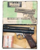 WEBLEY & SCOTT LTD, BIRMINGHAM A BOXED .22 BARREL-COCKING AIR-PISTOL, MODEL 'SENIOR', batch no.