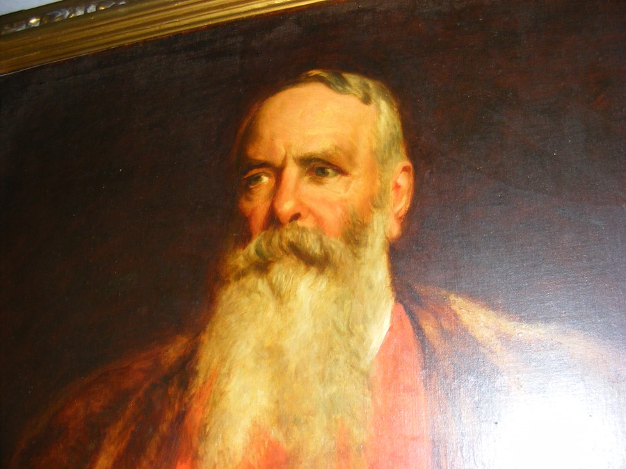 Lot 13 - AFTER HENRY T WELLS - a large oil on canvas of bea