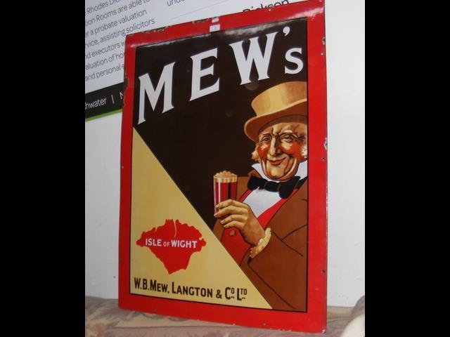Lot 6 - An old enamel Mew Langton sign - 99cm x 76cm