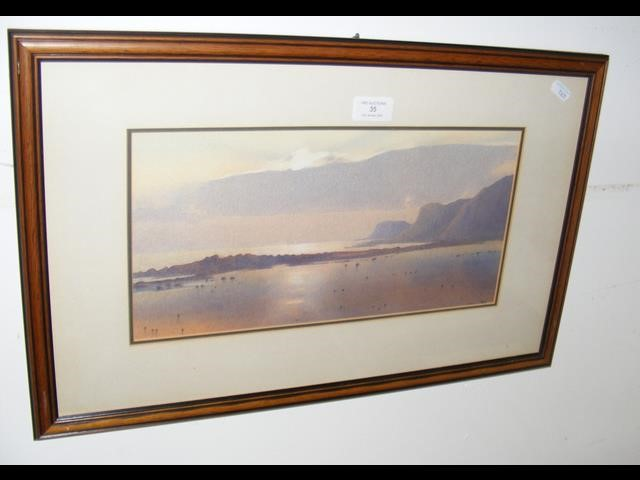 Lot 35 - MARTIN SWAN - watercolour of Steephill Cove in lat