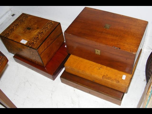 Lot 28 - An inlaid box, together with others
