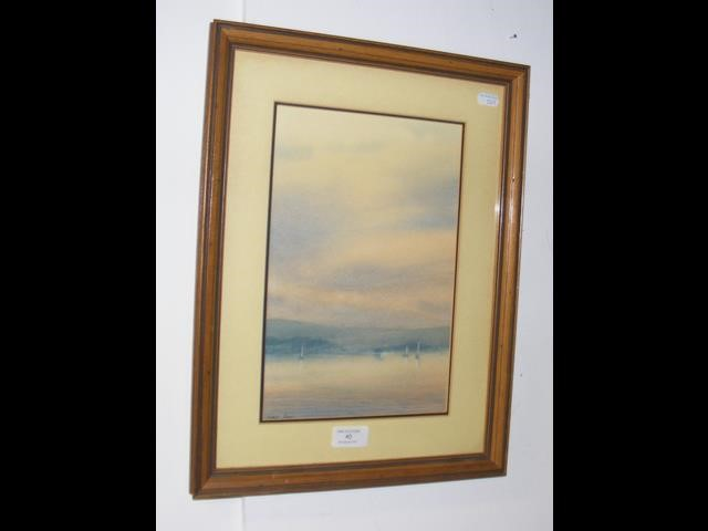Lot 40 - MARTIN SWAN - watercolour - sailing boats in The