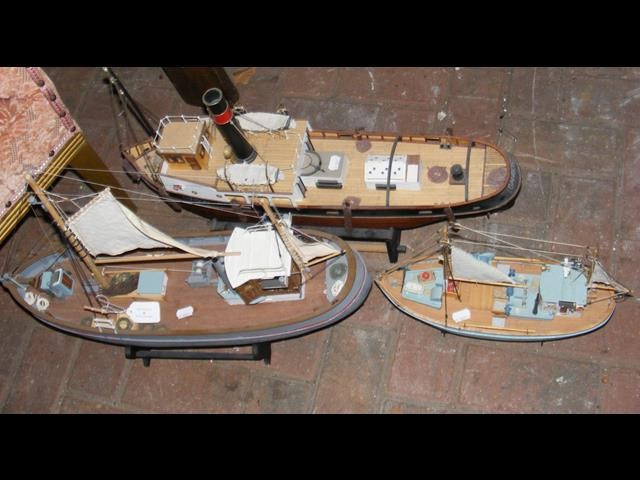 Lot 4 - A model steamship, together with two others