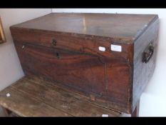 A wooden storage trunk - 71cm