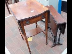 A small proportioned mahogany Pembroke table, toge