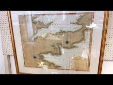 THOMAS JEFFERY - 1794 - Chart of the British Chann