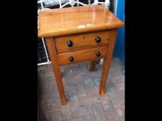 A Victorian small proportioned two drawer side tab