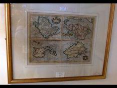 GERARD MERCATOR - 1512-1594 - early hand coloured