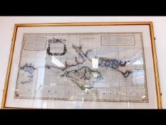JOSEPH AVERY - an early hand coloured map and char