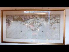 VAN KEULEN - early hand coloured sea chart of the