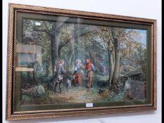 A E BUCKLEY - watercolour of woodland Shakespearia