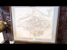 JOHN HAYWOOD - 1781 - a map of the Isle of Wight -