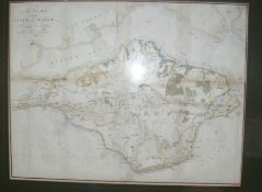 An Isle of Wight hand coloured map by TOMKINS - 35