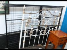 """A Victorian style 4ft 6"""" bedstead"""