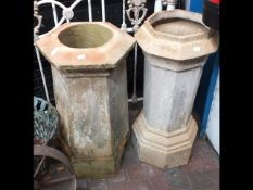 Two old chimney pots