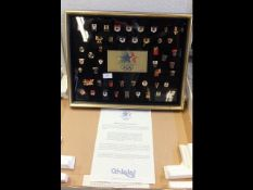 A Limited Edition 1984 Olympic game badges in pres