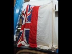 An old white ensign naval flag