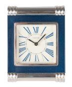 A 20TH CENTURY CARTIER DESK CLOCK
