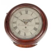 THEODORE MORISON, LONDON A GEORGE III 8' SILVERED DIAL VERGE WALL CLOCK the saltbox style case
