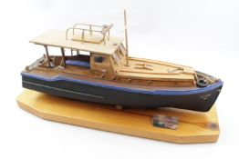 Models of Hemingway's Boat 'Pilar' with similarly titled book 'Hemingways Boat' plus two books on