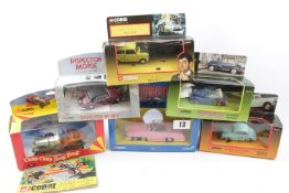 Collection of Corgi Novelty Vehicle sets inc. 'SOme Mothers Do 'Ave 'Em', 'Mr Beans Taxi' etc (10)