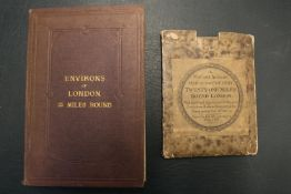 ROWE (R.) Rowe's Map of the Country Twenty-One Miles Round London 1806 Map & Late 19thC Edward