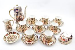 Royal Crown Derby Imari Pattern Coffee set for 8 marked 2451