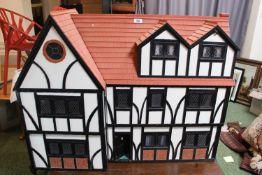 Large 20thC Tudor style Dolls house