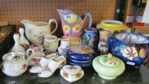 A Carlton Ware sucrier, Royal Albert china and other china