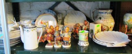 Various china and some Hummel figures (a/f)
