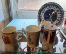 An Adams Bros King George V and Queen Mary mug for The County Borough of Brighton, three other