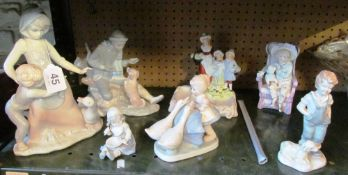 A Yardley lavender soap dish and various figures