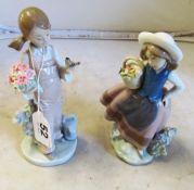 Four Lladro figures
