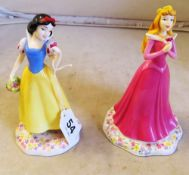 Two Royal Doulton figures Snow White and Sleeping Beauty