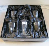 A Forever Crystal whisky set decanter and four glasses (boxed)