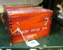 A nautical instrument Asimuth circle No 4 in box