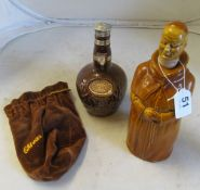An Abbots Choice 'Abbott' whisky decanter and Royal Solute bottle (empty)