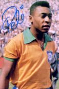 BRAZIL WORLD CUP CHAMPION 1970: A good selection of signed 4 x 6 photographs by various Brazilian