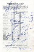 TOUR DE FRANCE WINNERS: Signed program, by various Tour de France winners,