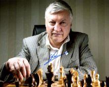 KARPOV ANATOLY: (1951- ) Russian chess Grandmaster.