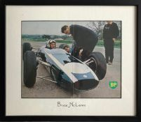 MCLAREN BRUCE: (1937-1970) New Zealand Motor Racing Driver, founder of the McLaren Racing Team,