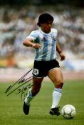 MARADONA DIEGO: (1960- ) Argentinean Footballer. Colour signed 8 x 12 photograph by Maradona.