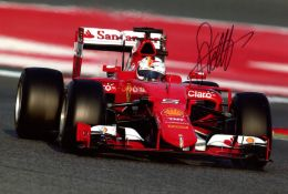 FERRARI FORMULA ONE DRIVERS: A good selection of colour signed 12 x 8 photographs by various