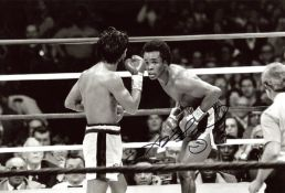 LEONARD SUGAR RAY: (1956- ) American Boxer, World Champion in five different weight divisions.