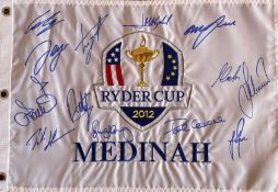 RYDER CUP - MEDINAH 2012: An excellent multiple signed 20 x 13.