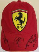 FORMULA ONE: An official souvenir Scuderia Ferrari red baseball-style cap,
