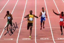 ATHLETICS: Small selection of signed colour 8 x 12 photographs by various athletes,